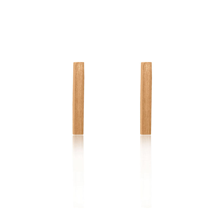 Bar Stud Earrings - Rose Gold Plated Sterling Silver