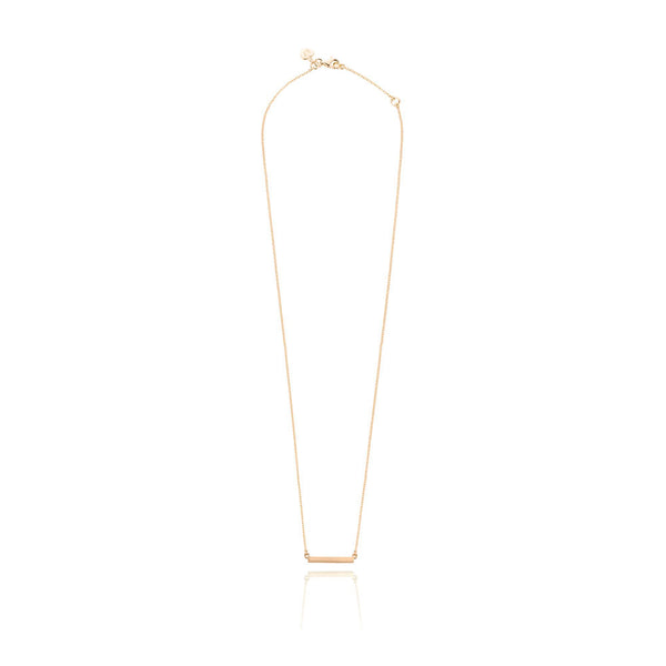 Bar Necklace - Rose Gold Plated Sterling Silver