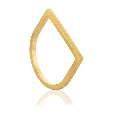 Bar Ring - Yellow Gold Plated Sterling Silver