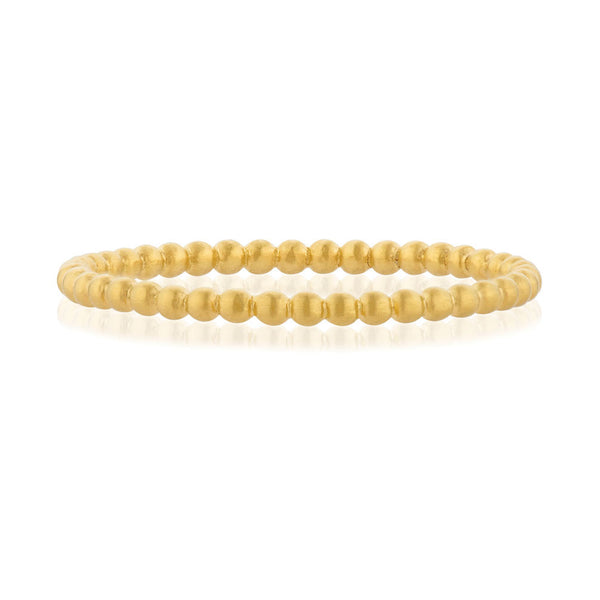 Bead Ring - Yellow Gold Vermeil Sterling Silver
