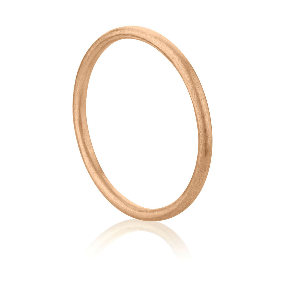 Plain Brushed Ring - Rose Gold Plated Sterling Silver