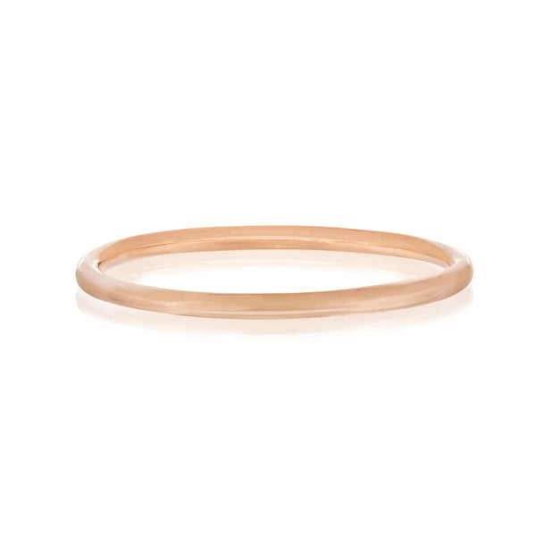 Plain Polished Ring - Rose Gold Vermeil Sterling Silver