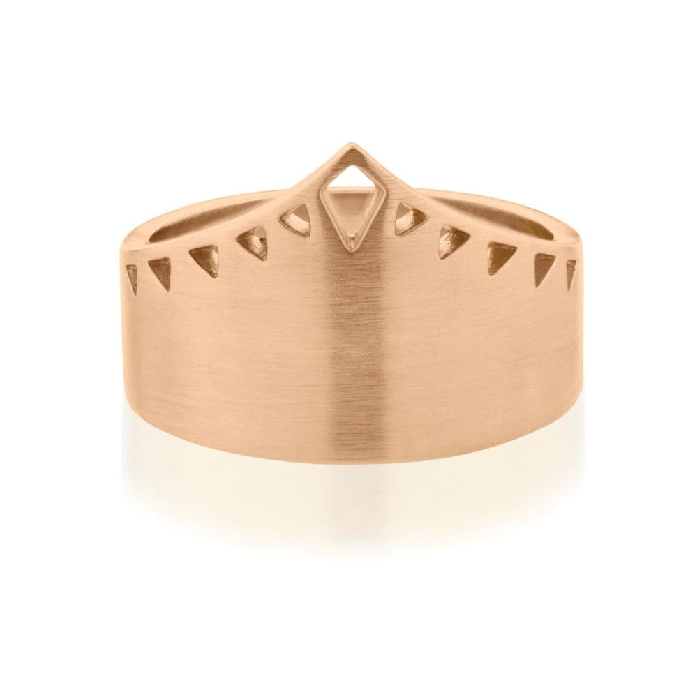 Shield Ring - Rose Gold Plated Sterling Silver