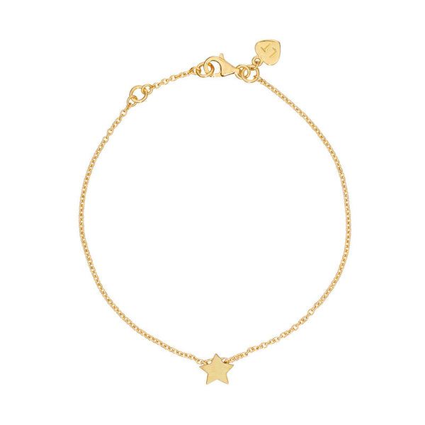 Tiny Star Bracelet - Yellow Gold Plated Sterling Silver