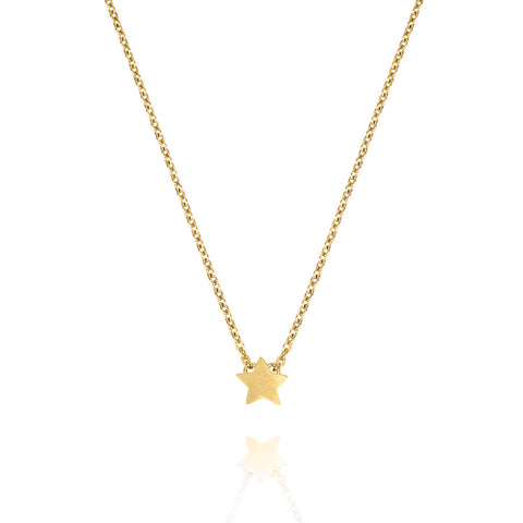 Tiny Star Necklace - Yellow Gold Plated Sterling Silver