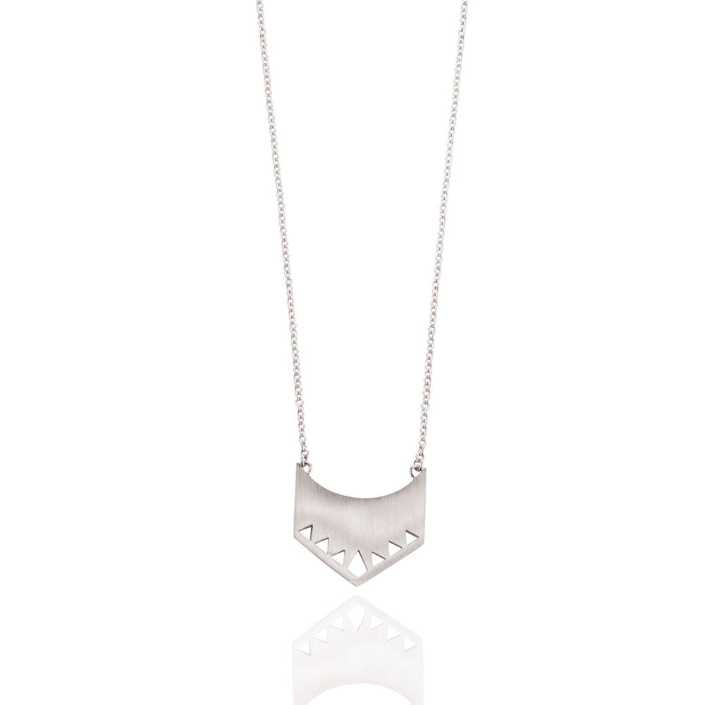 Shield Necklace - Sterling Silver
