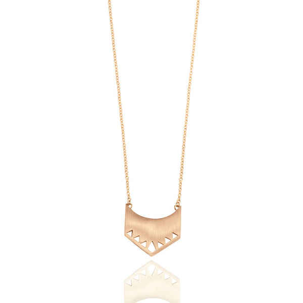 Shield Necklace - Rose Gold Plated Sterling Silver