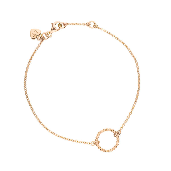Hoop Bracelet - Rose Gold Plated Sterling Silver