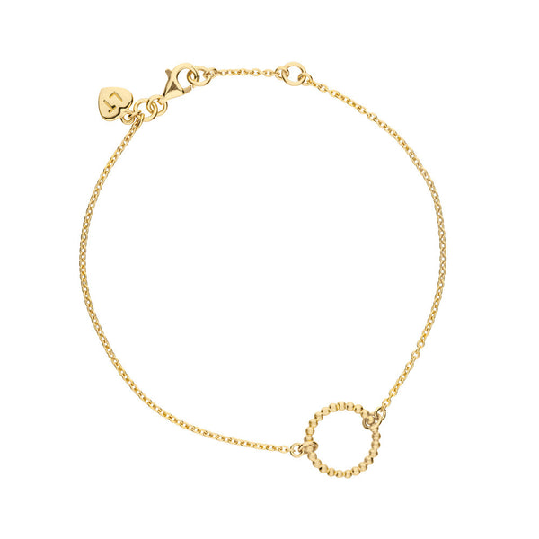 Hoop Bracelet - Yellow Gold Plated Sterling Silver