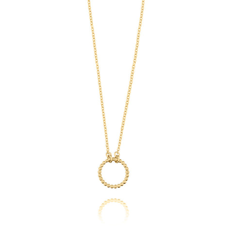Hoop Necklace - Yellow Gold Plated Sterling Silver