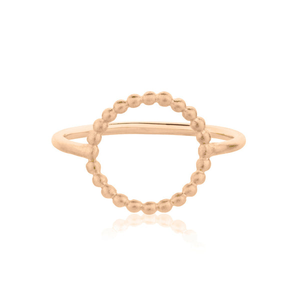 Hoop Ring - Rose Gold Vermeil Sterling Silver