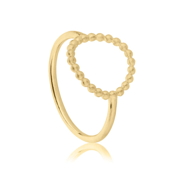 Hoop Ring - Yellow Gold Vermeil Sterling Silver