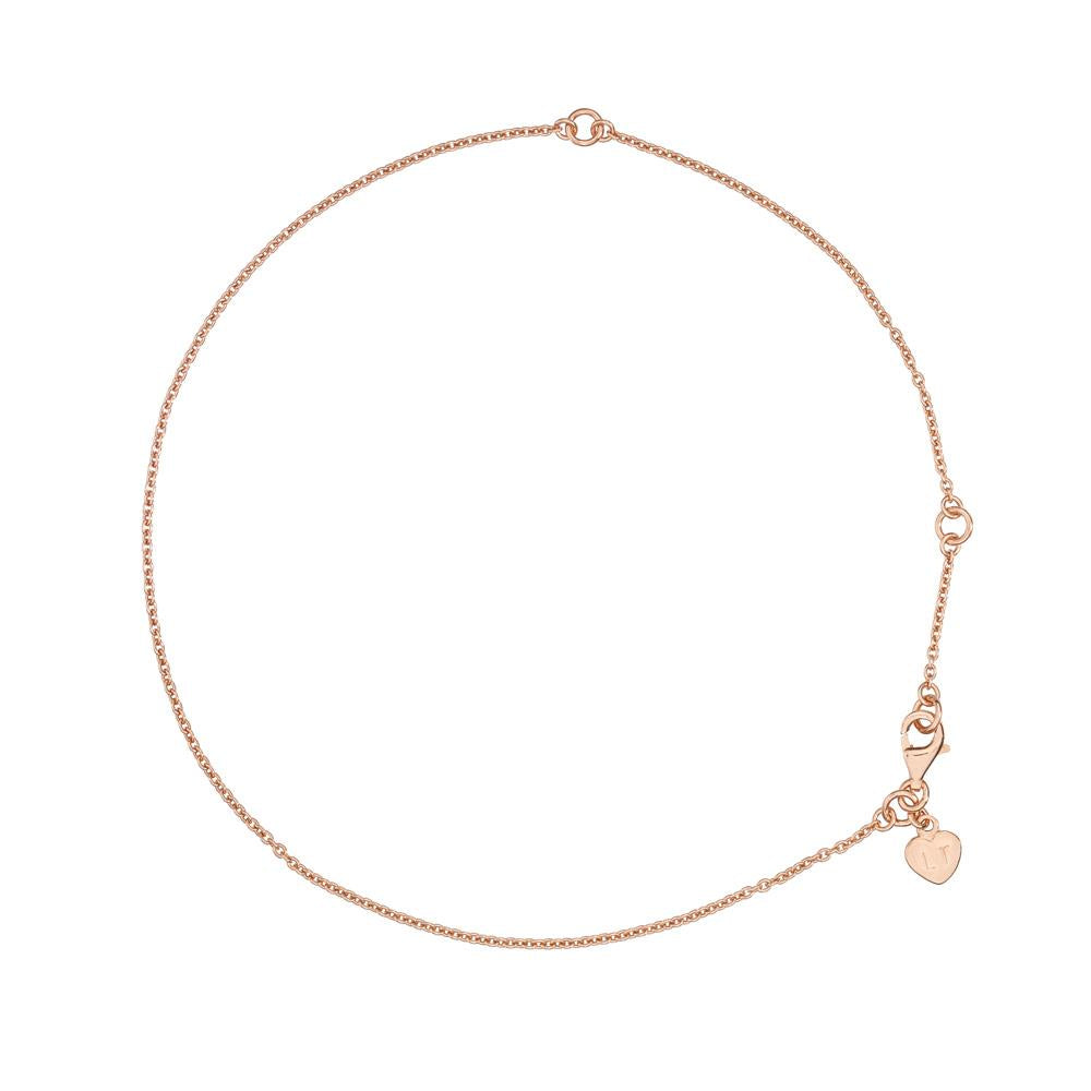 Anklet - Rose Gold Plated Sterling Silver