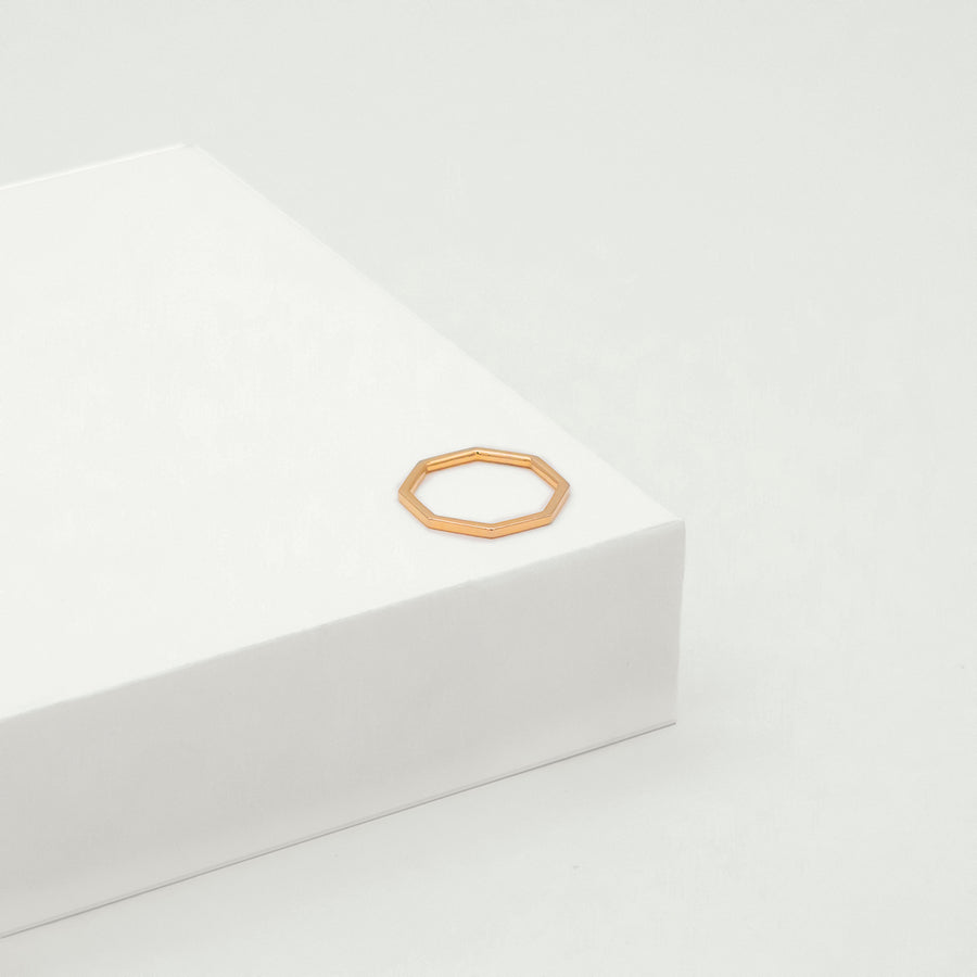 Octa Polished Ring