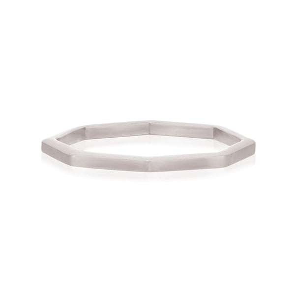 Octa Polished Ring - Sterling Silver