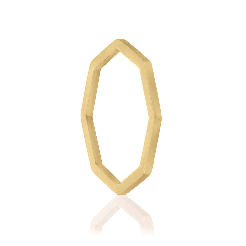 Octa Polished Ring - Yellow Gold Vermeil Sterling Silver