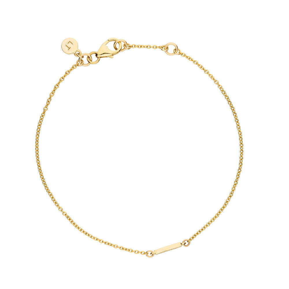 Polished Bar Bracelet - 9k Yellow Gold