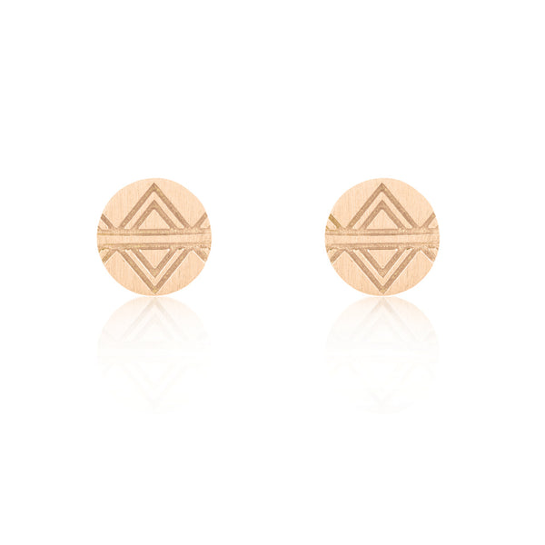 Journey Stud Earrings - Rose Gold Plated Sterling Silver