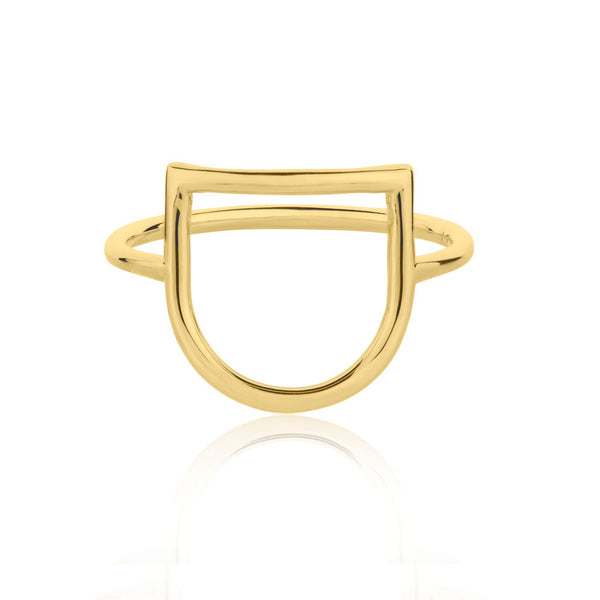 U Ring - Yellow Gold Vermeil Sterling Silver