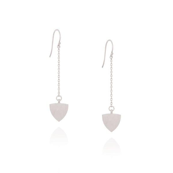 The Transit Chain Drop Earrings - Sterling Silver