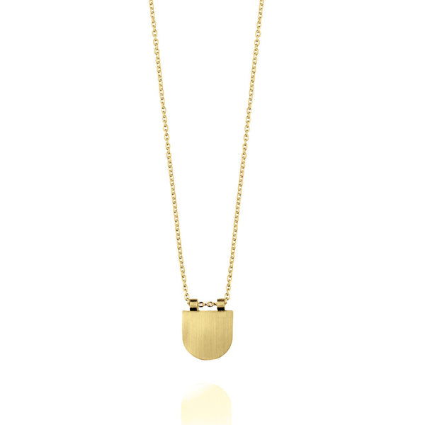 Eclipse Necklace - Yellow Gold Plated Sterling Silver