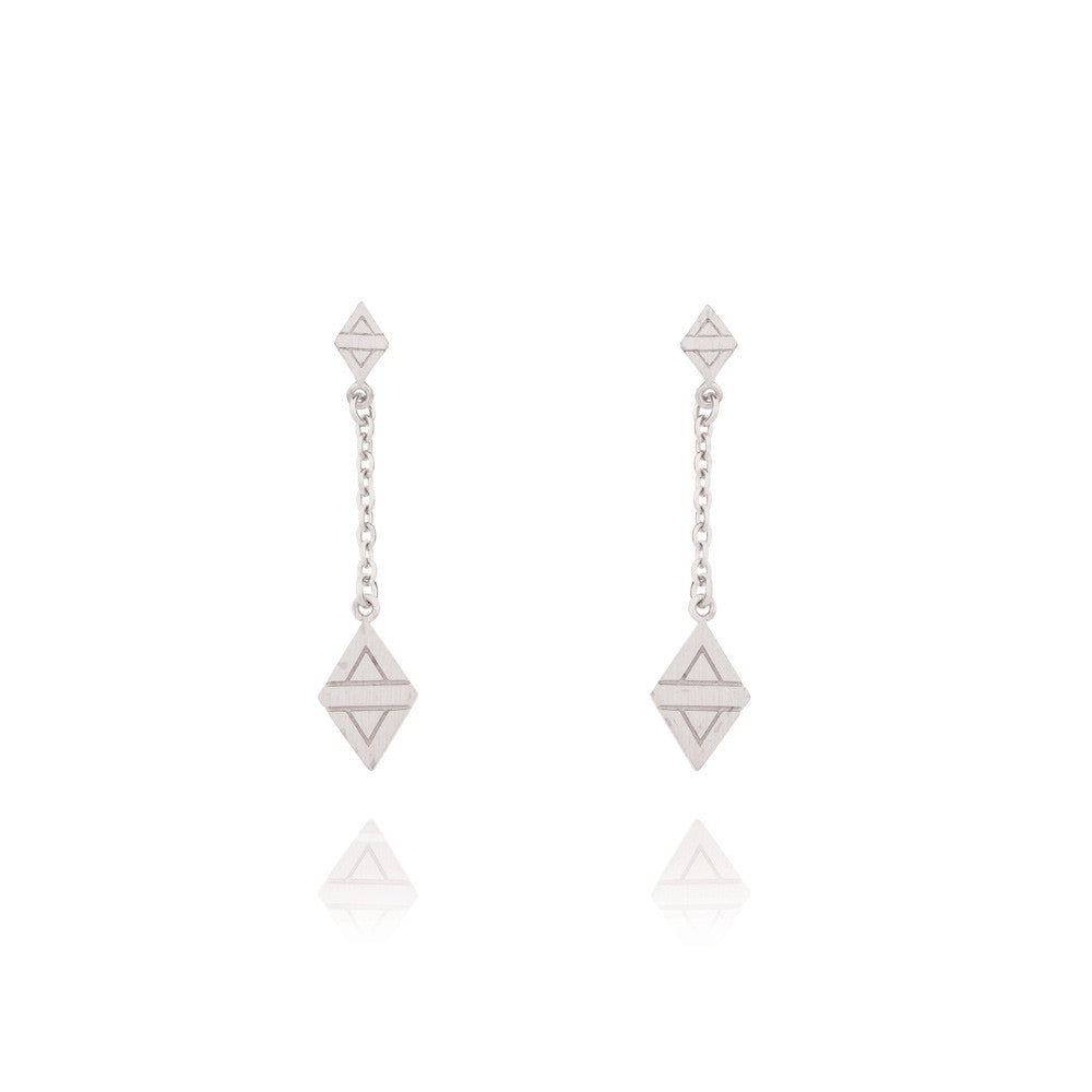A New Dawn Drop Earrings - Sterling Silver