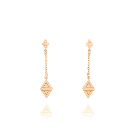 A New Dawn Drop Earrings - Rose Gold Plated Sterling Silver