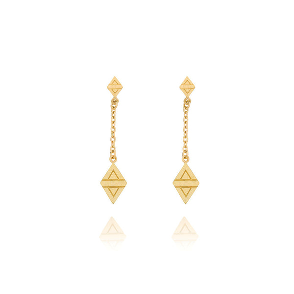 A New Dawn Drop Earrings - Yellow Gold Plated Sterling Silver
