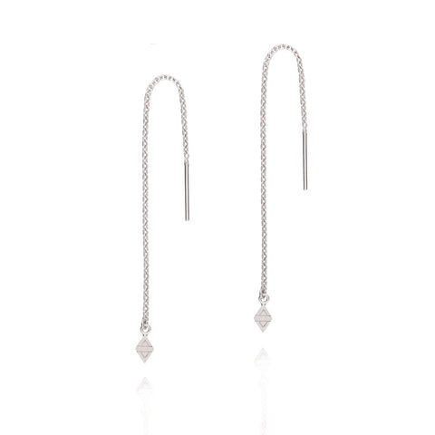 A New Dawn Thread Earrings - Sterling Silver