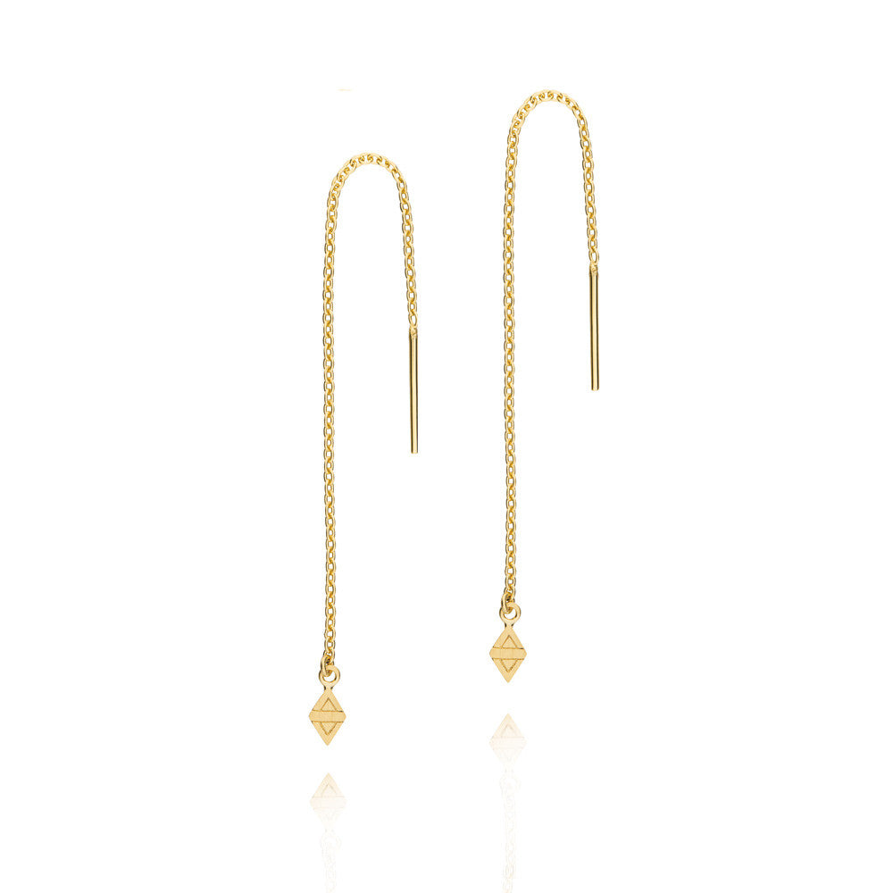 A New Dawn Thread Earrings - Yellow Gold Plated Sterling Silver