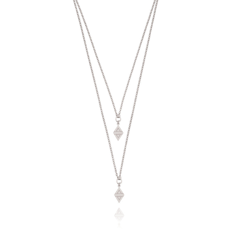 A New Dawn Double Drop Necklace - Sterling Silver