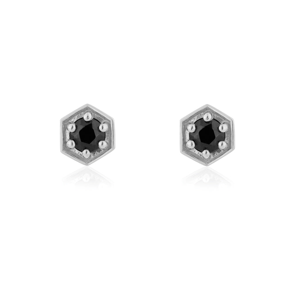 Sacred Stud Earrings Black Onyx - Sterling Silver