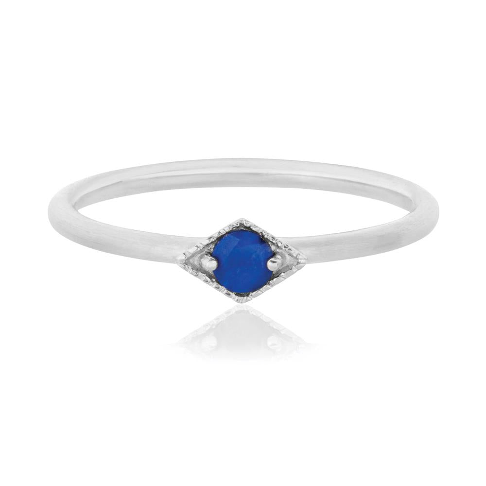 Into The Dusk Ring Lapis Lazuli - Sterling Silver