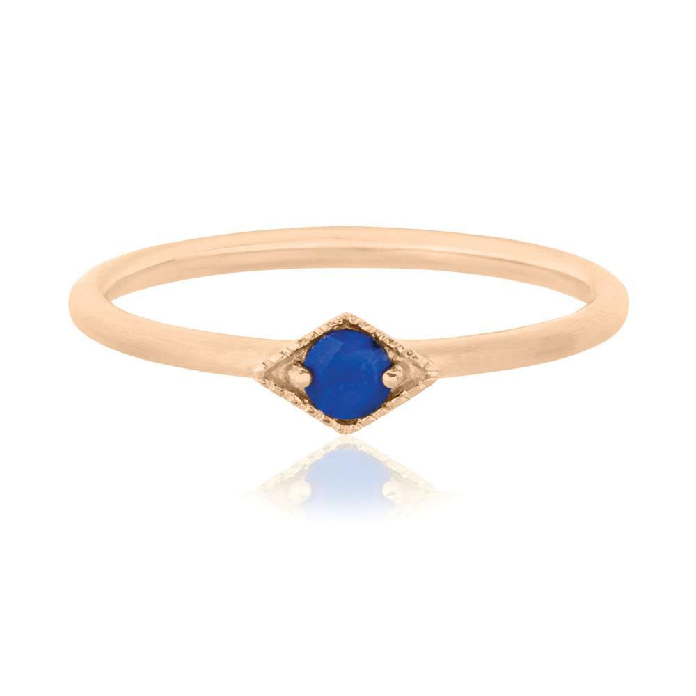 Into The Dusk Ring Lapis Lazuli - Sterling Silver with Rose Gold Vermeil