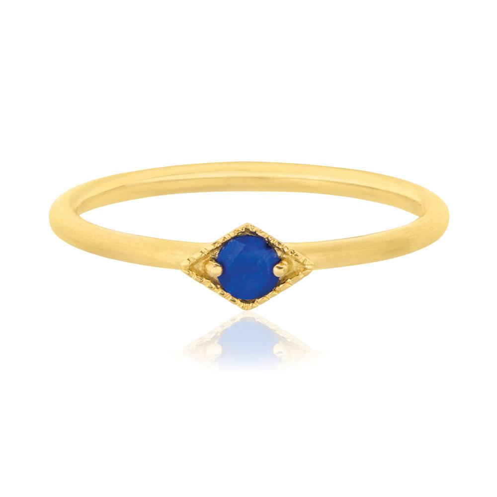 Into The Dusk Ring Lapis Lazuli - Sterling Silver with Yellow Gold Vermeil