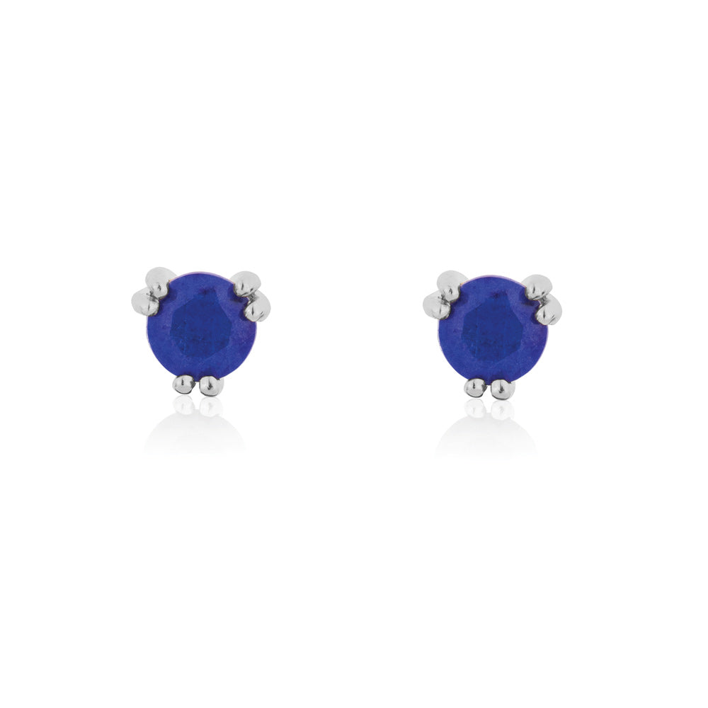 Maya Stud Earrings Lapis Lazuli - Sterling Silver