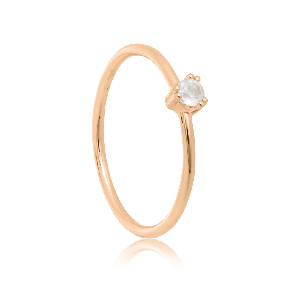 Maya Ring Rose Quartz - Sterling Silver with Rose Gold Vermeil
