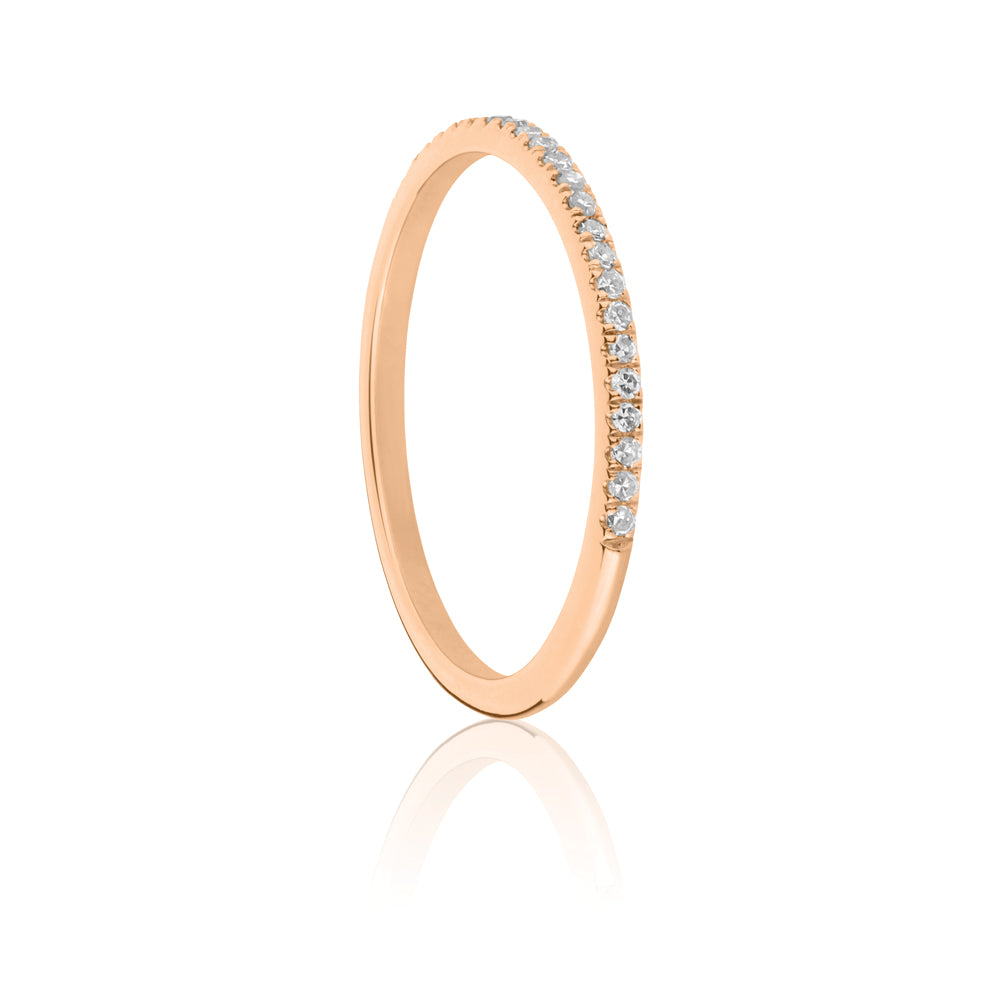 Forever White Diamond Ring - 9K Rose Gold