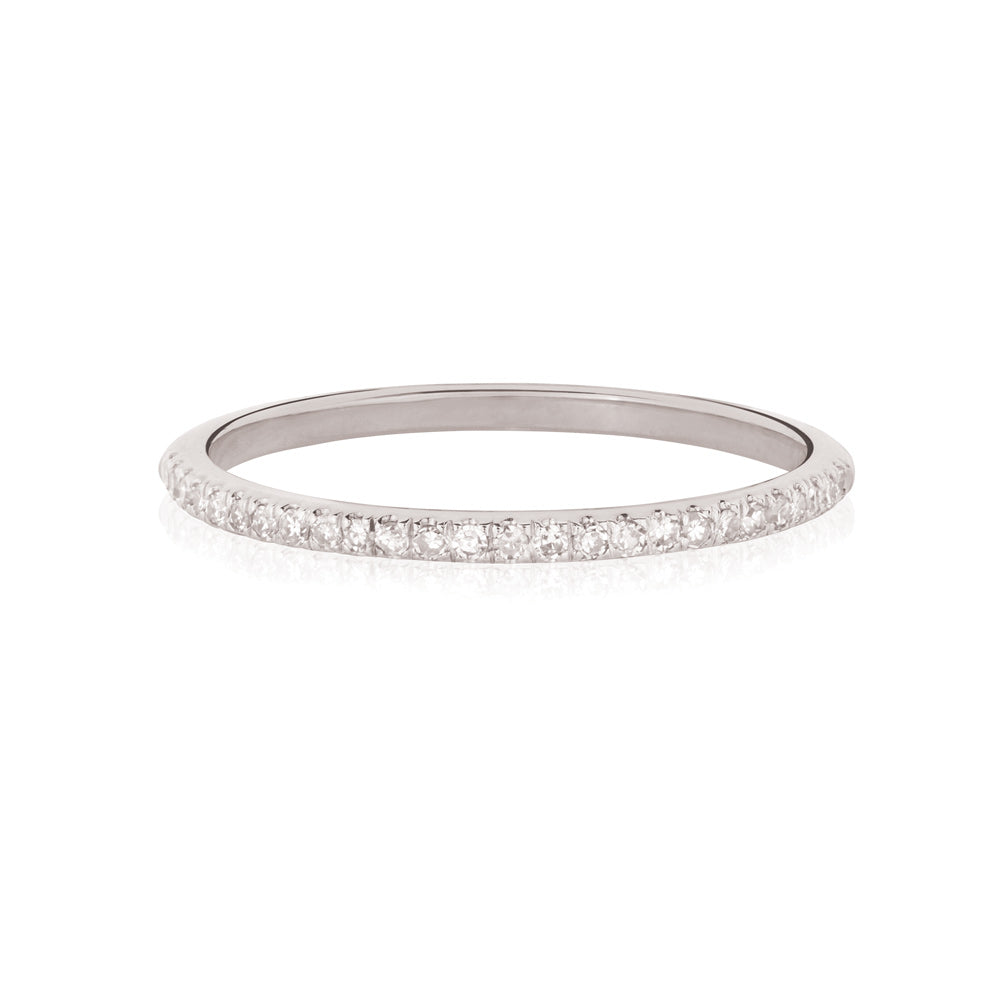 Forever White Diamond Ring - 9K White Gold