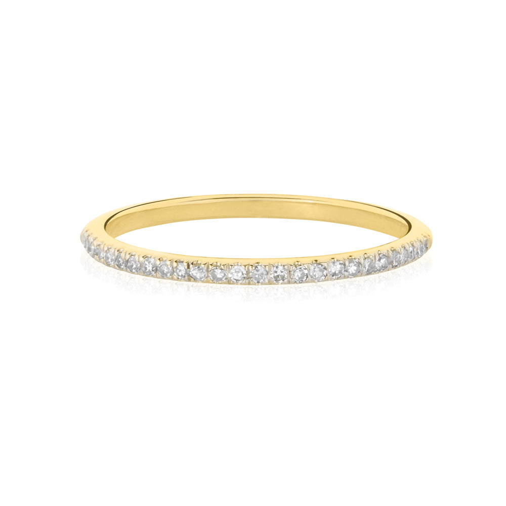 Forever White Diamond Ring - 9K Yellow Gold