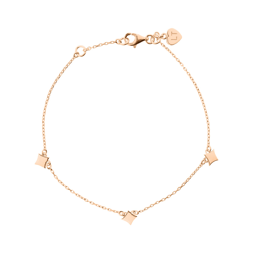 Night Star Bracelet - Rose Gold Plated Sterling Silver