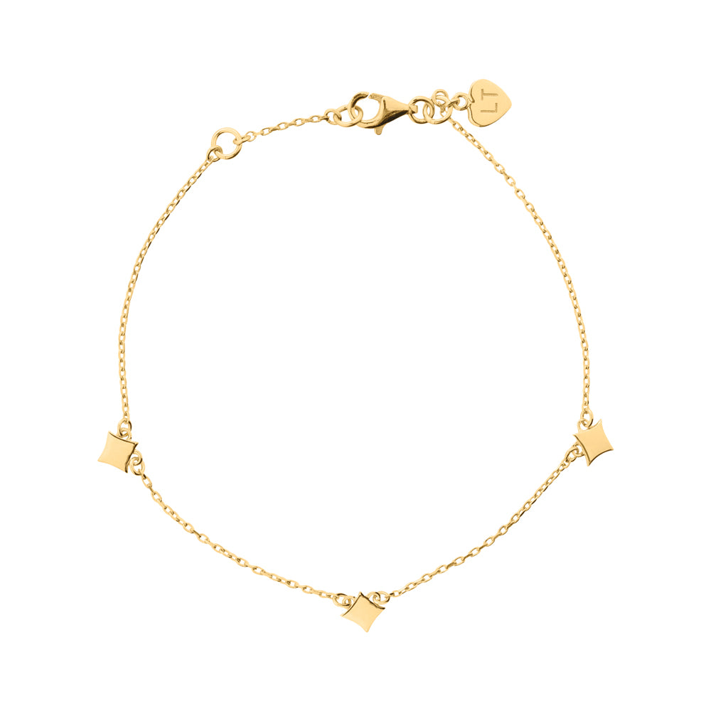 Night Star Bracelet - Yellow Gold Plated Sterling Silver