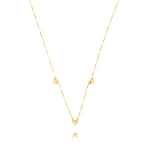 Night Star Necklace - Yellow Gold Plated Sterling Silver