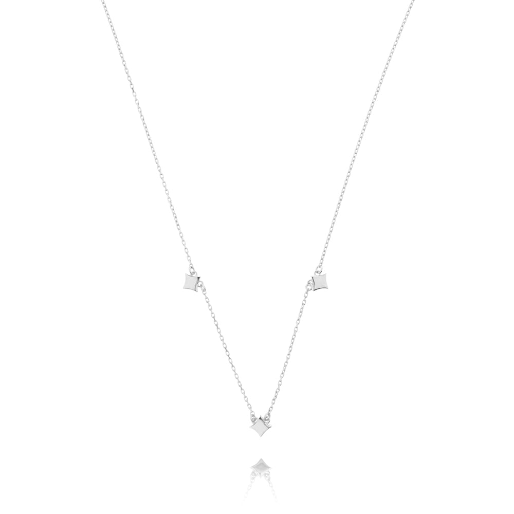 Night Star Necklace - Sterling Silver