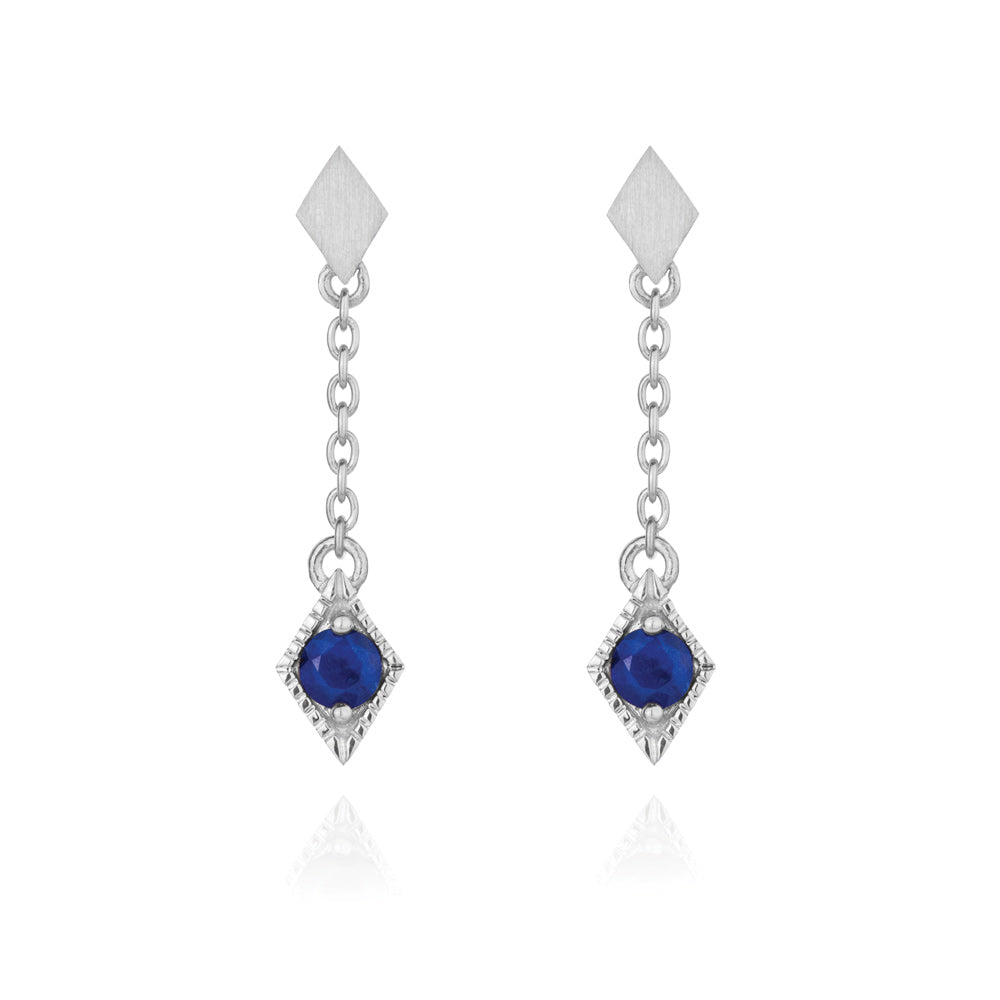Into The Dusk Drop Earrings Lapis Lazuli - Sterling Silver