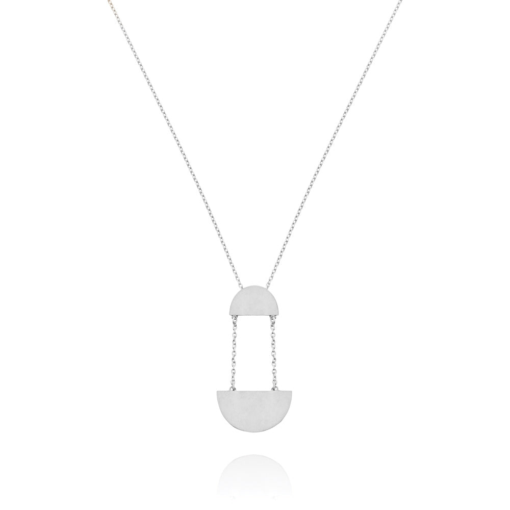 Hemisphere Necklace - Sterling Silver