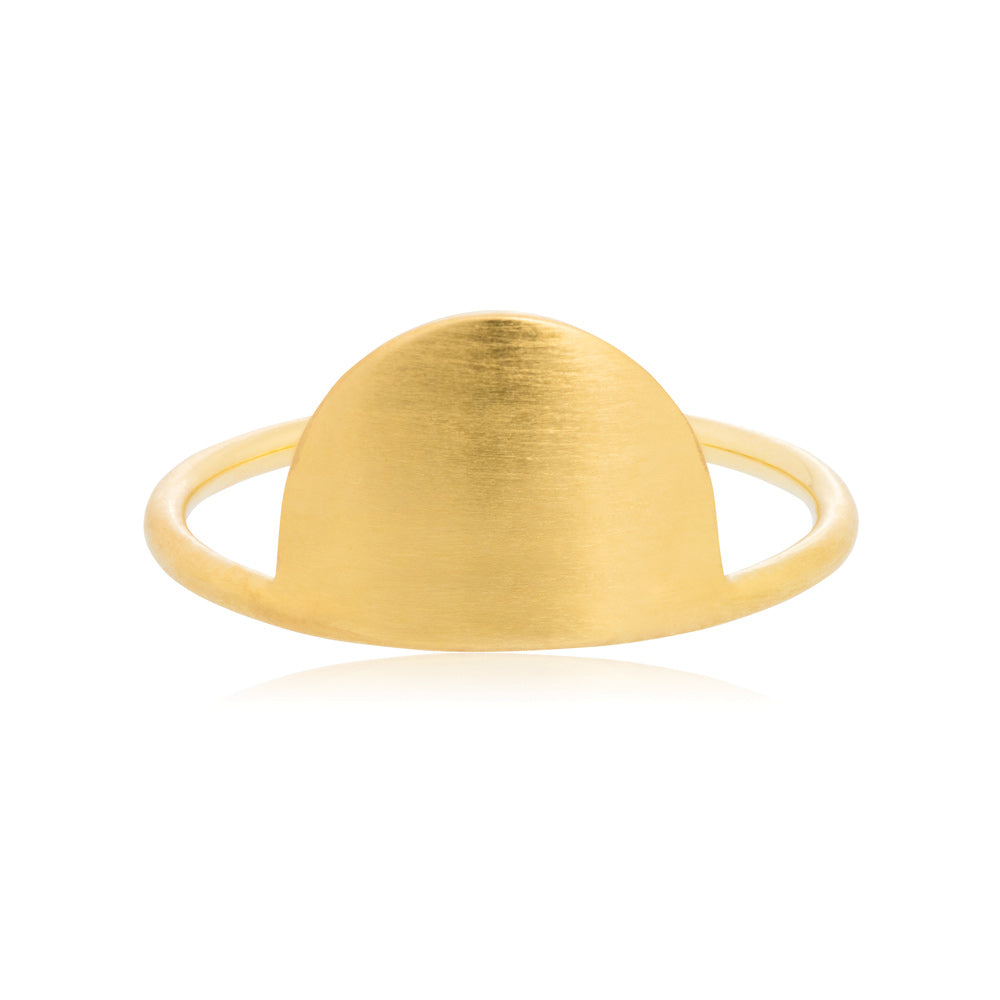 Hemisphere Ring - Sterling Silver with Yellow Gold Vermeil