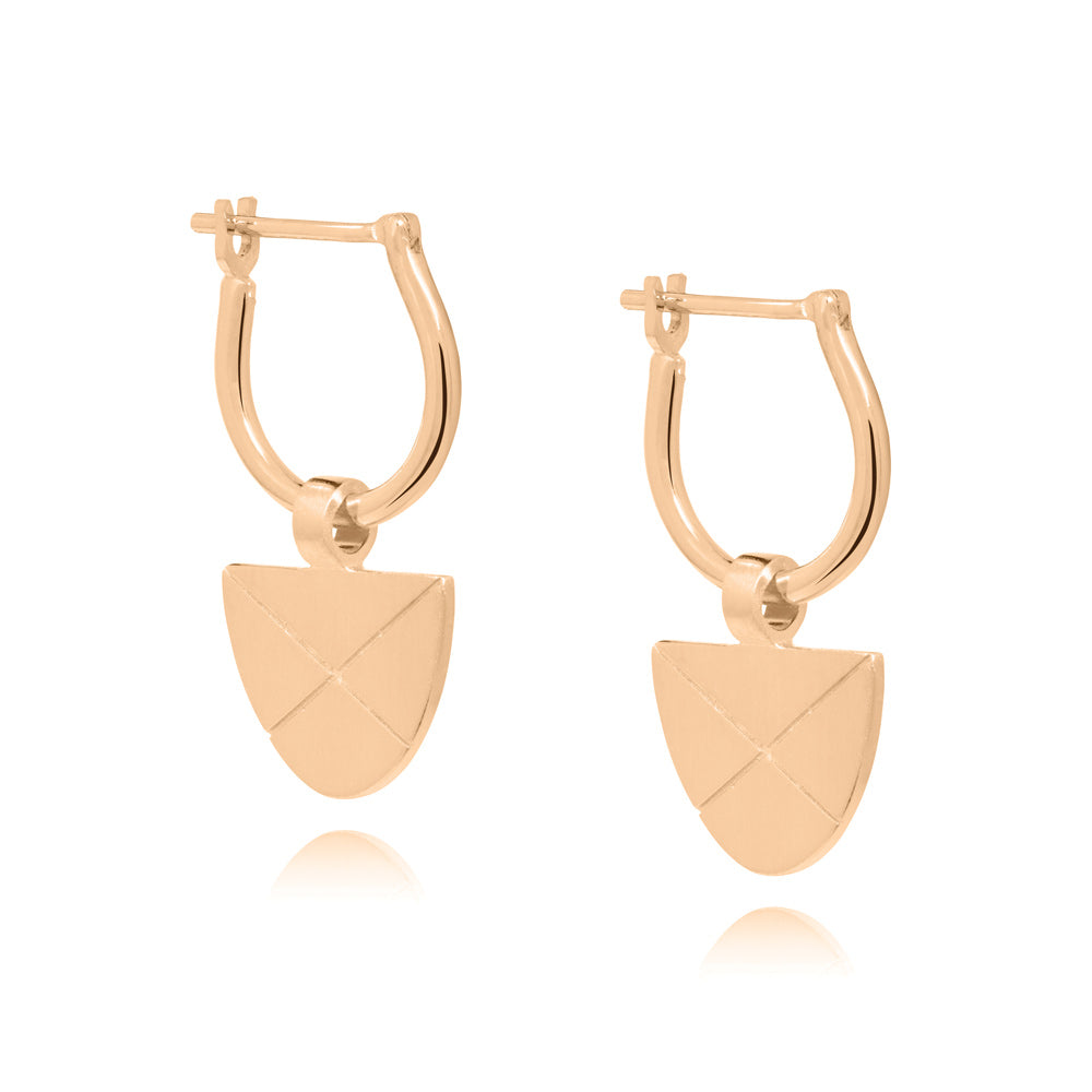 Covet Hoop Earrings - Rose Gold Plated Sterling Silver