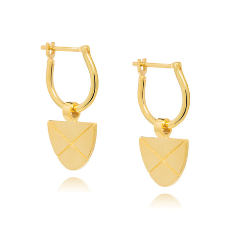 Covet Hoop Earrings - Yellow Gold Plated Sterling Silver