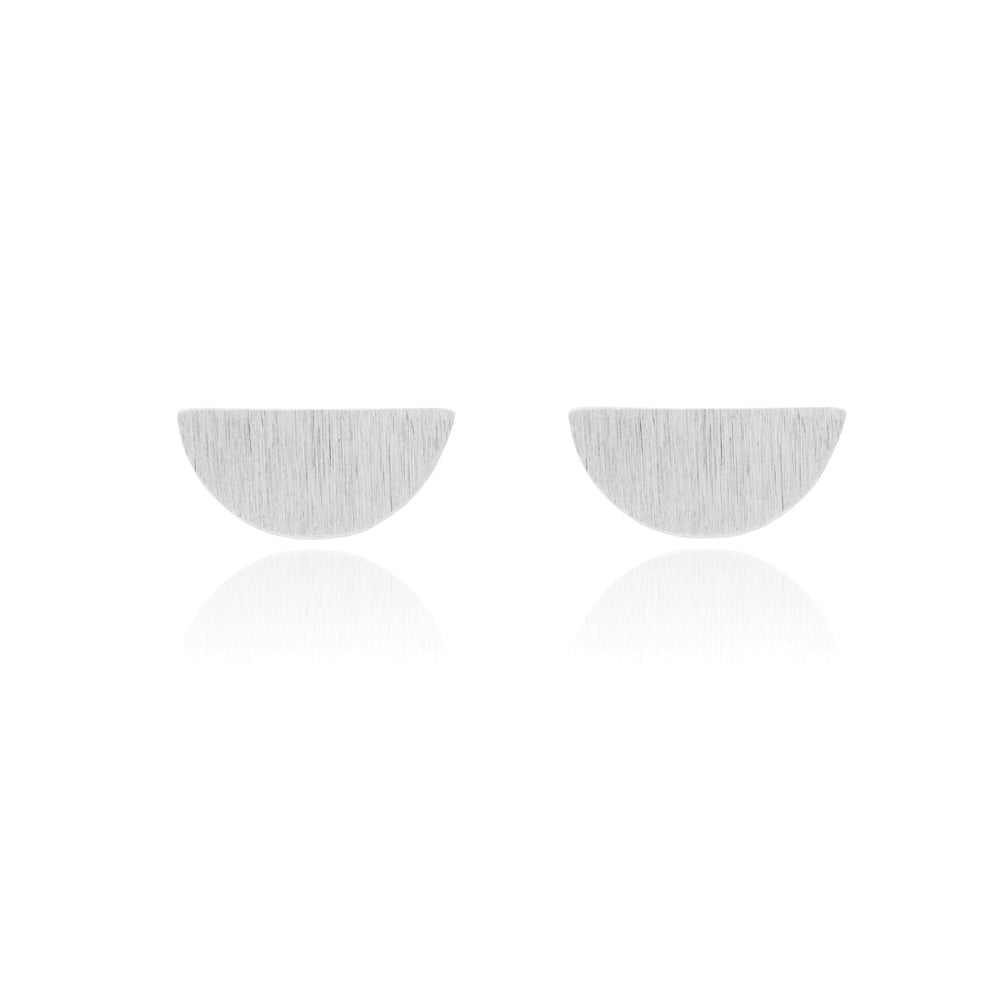 Hemisphere Stud Earrings - Sterling Silver